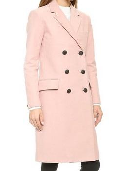 Rag & Bone Pink Devoe Coat