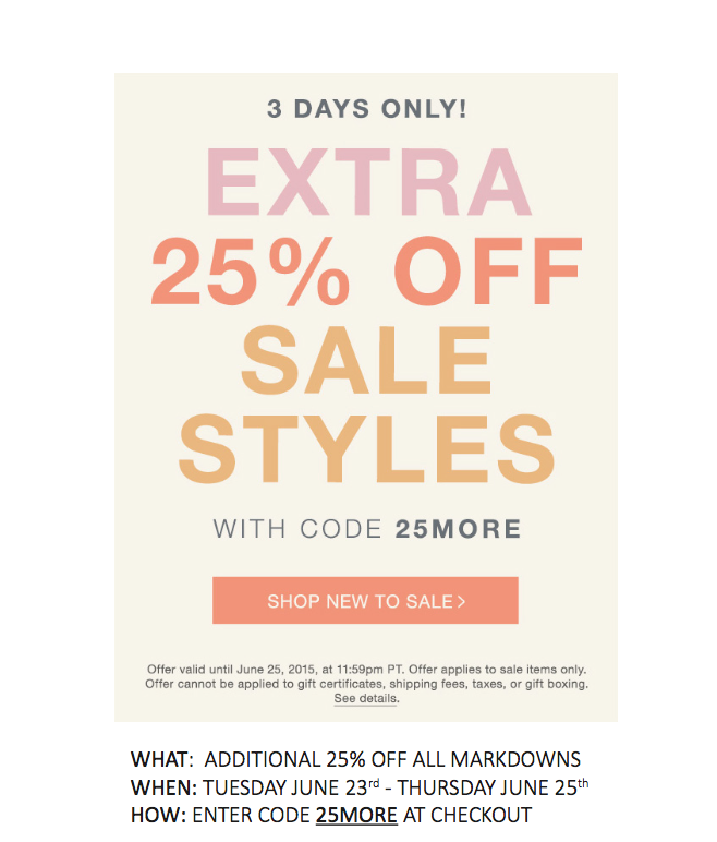 June SUmmer Shopbop Sale