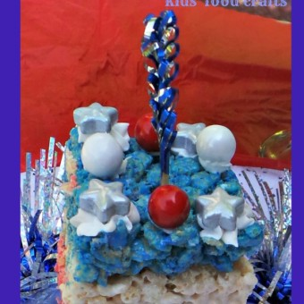 layered Crispy Rice Krispies Kids Food Crafts 4th of July Patriotic Treat blog