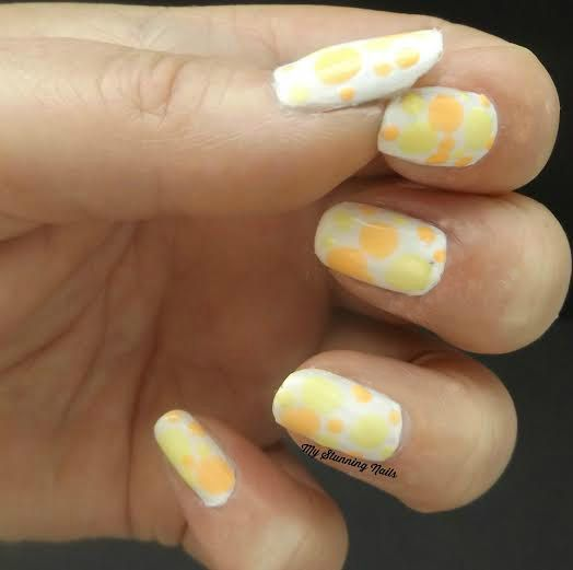 Pastel Neon Dots Summer Manicures