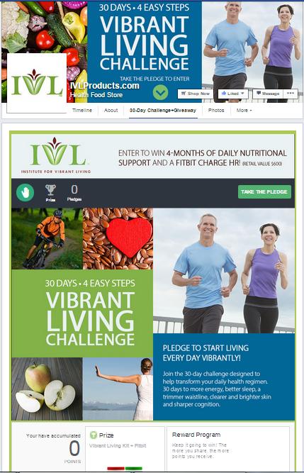 Institute for Vibrant Living Facebook Contest