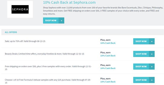 Splender Cash Back Savings