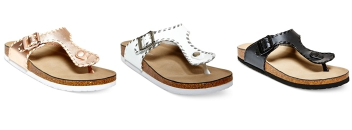 Madden Girl Booming Whipstich T-Strap Footbed Fall Sandals