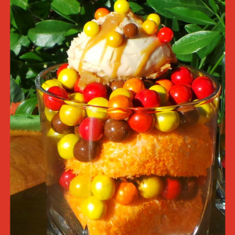 Autumn Food Crafts for Kids : Sweetworks Autumn Trifle