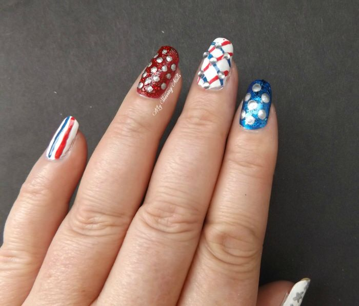 Veterans Day Manicures Nail Art4
