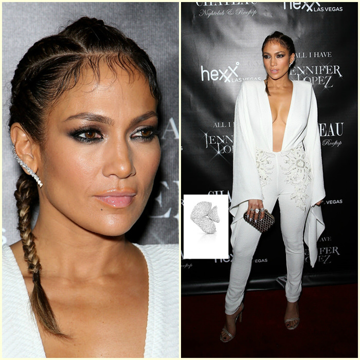 Jennifer Lopez Hairstyles Residency Lauch Party