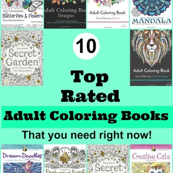Amazons 10 Top Rated Adult Coloring Books