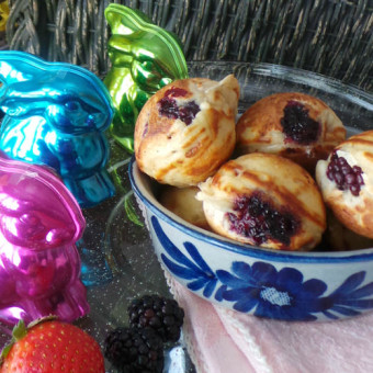 Blackberry Ebelskivers Danish Pancakes