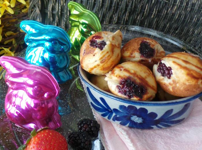 Blackberry Ebelskivers Danish Pancakes