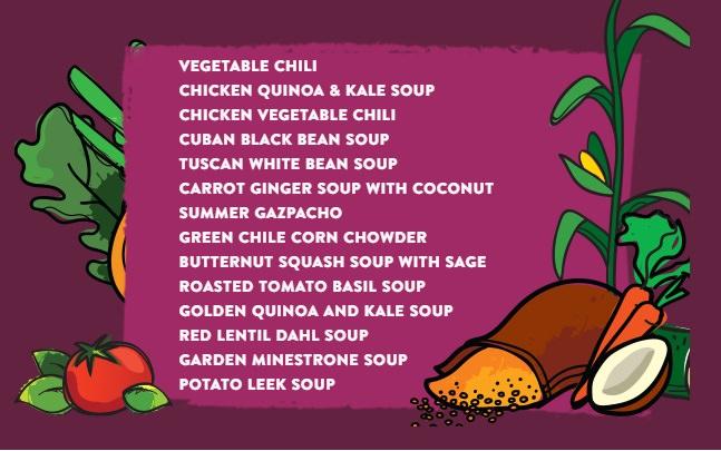 Boulder Organics soup varieties
