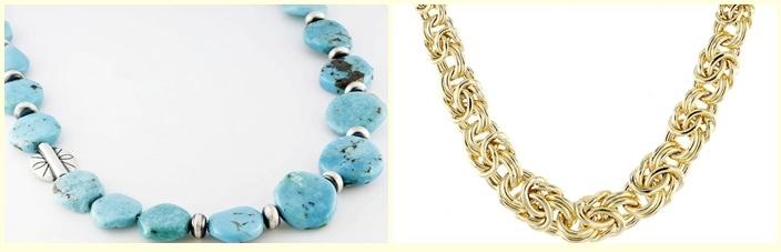 Southwest Style By Jtv(Tm) Graduated Fancy Blue Kingman Turquoise Bead Silver Necklace