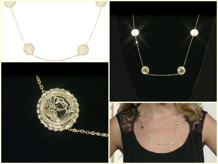spring necklaces JTV Gold Coin