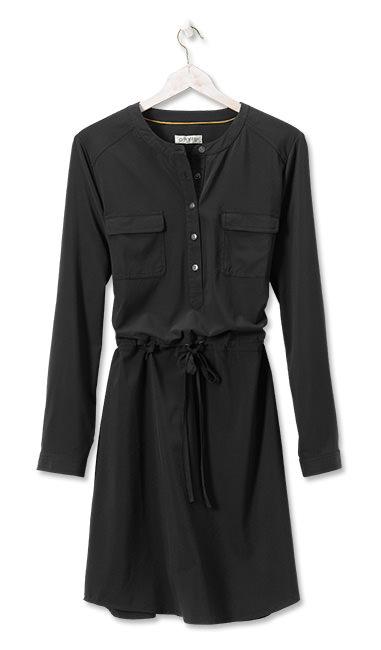 ORVIS BLACK FLORENCE Travel DRESS