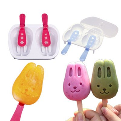 Bango Homemade Cute Rabbit Ice Pop Molds