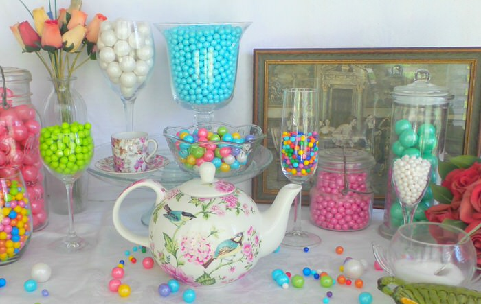 Candy buffet 3 ways Celebration by Frey Tea Party