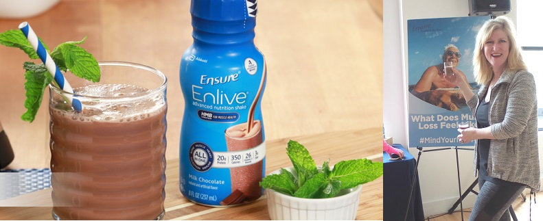 Maintain Strength as you age Ensure Enlive Minty Chocolate Smoothie