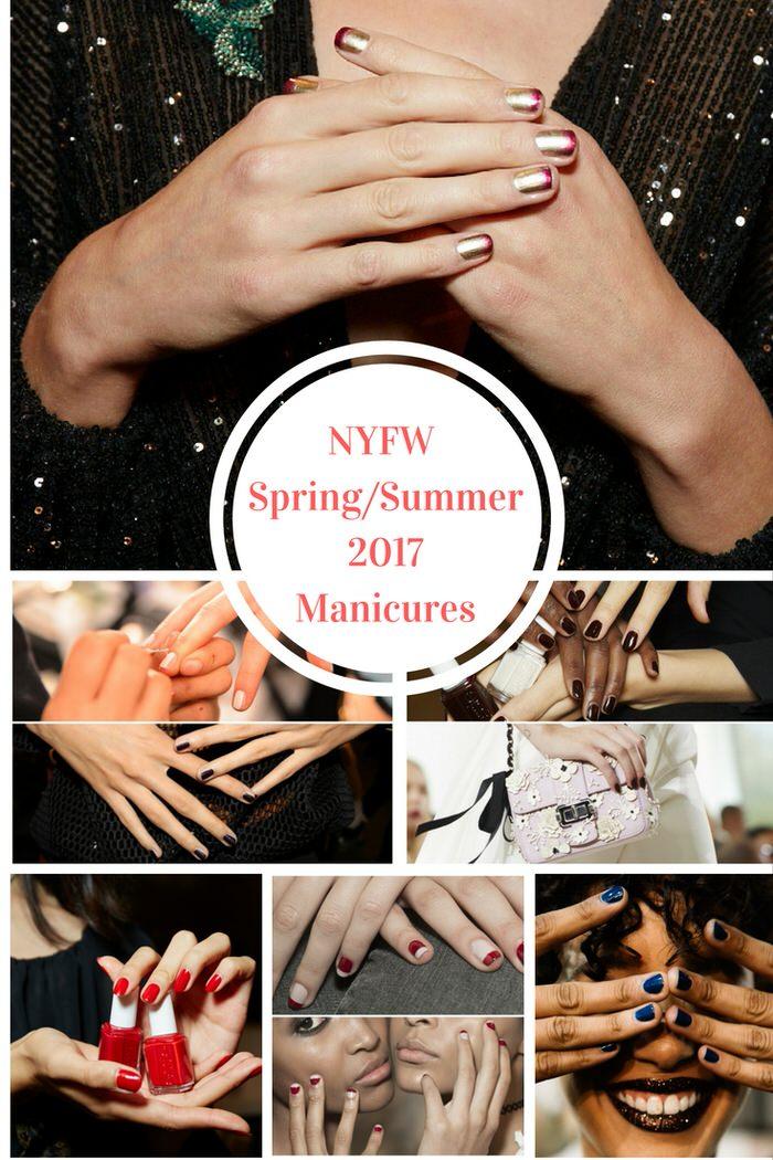 nyfw spring summer 2017 manicures photo credit Sam Kim for essie, also Jinsoon