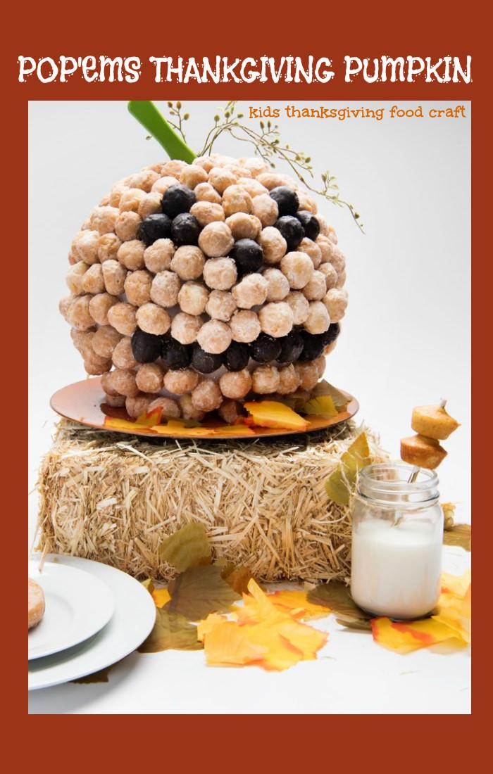 Entenmanns Thanksgiving Kids Food Craft: Pop'ems Thanksgiving Pumpkin
