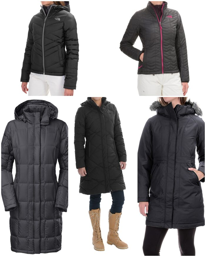 discounted black north face coats jackets