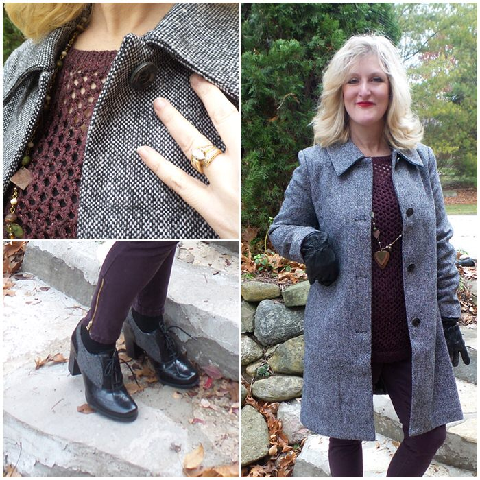 Tweed is the New Black! Chadwicks of Boston Wool Coats tweed is the new black shelley zurek
