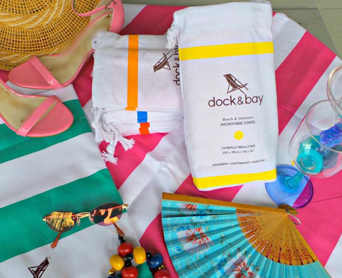 dock bay microfibre towels beach outdoors