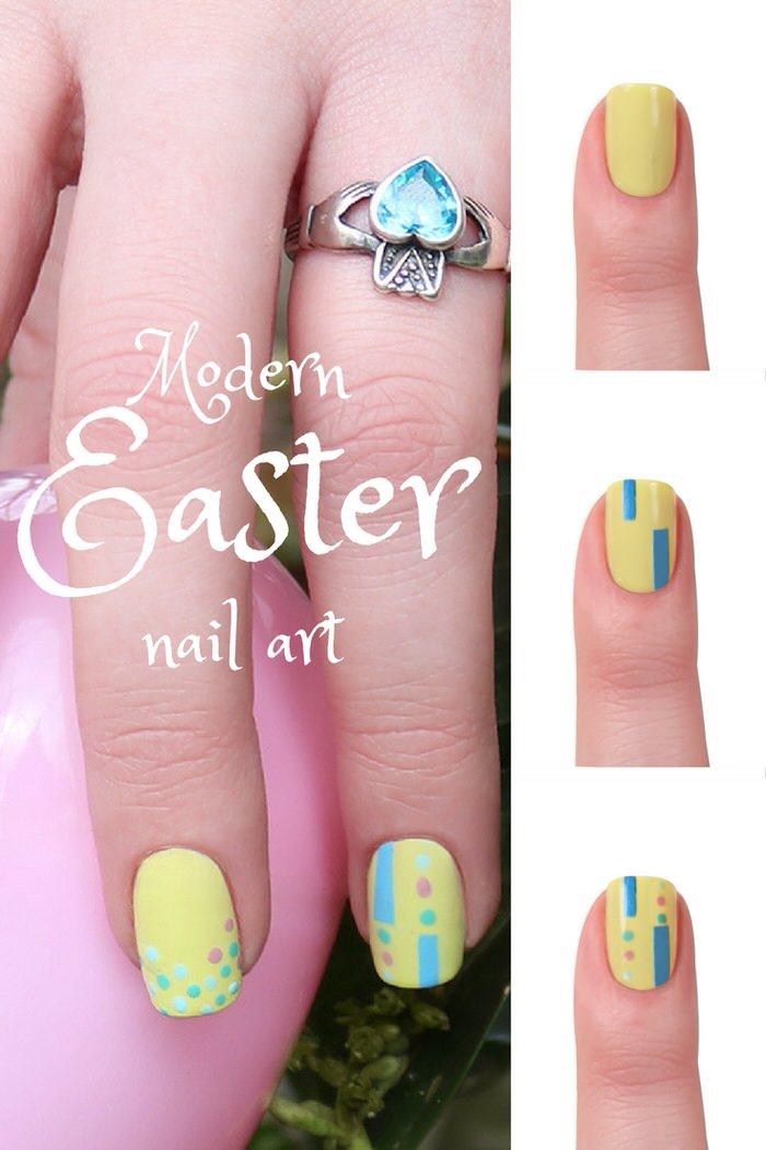 Modern Easter Nail Art Modern Easter Manicures