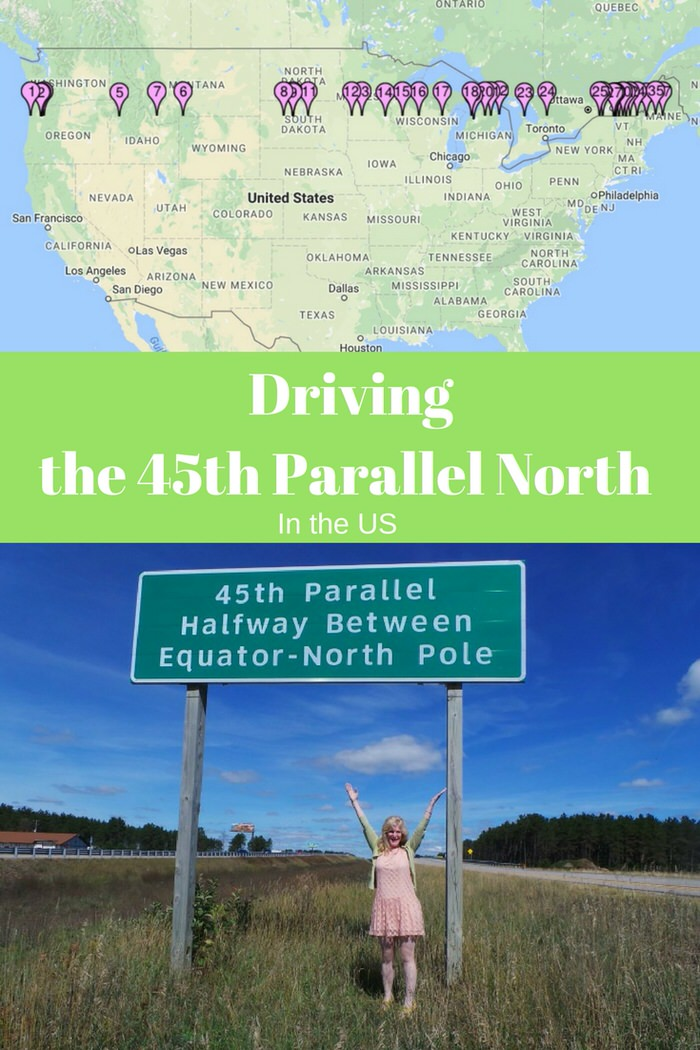 Driving The Th Parallel North In The United States - 45th parallel map us