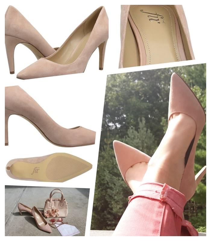 The Fix Women's Jennings Banana Heel Dress Pump collage