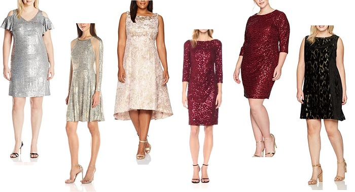 holiday dresses for Mature Women sparly metallics