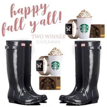 $950 Total Value 2 Winner Giveaway | Cash or Hunter Boot/Apple Watch/Starbucks