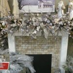 Brown and Ice mantel Christmas fireplace Ideas