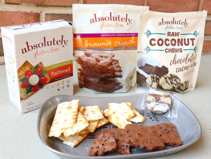 absolutely Gluten Free brownie Crunch flat bread raw coconut chews