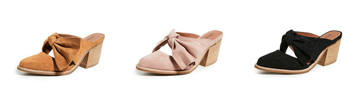 Jeffrey Campbell Cyrus Block Heel Mules black dusty rose pink mustard