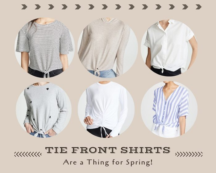 Tie Front Shirts 2019