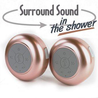 FresheTech Splash Tunes Pro Dual Bluetooth Stereo Shower speakers