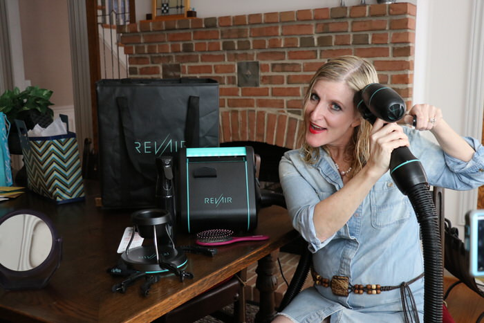 Using RevAir on Mature Wavy Hair Review Demo