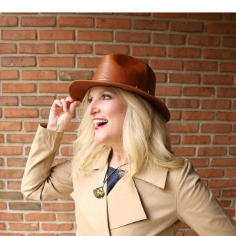 10th street hats Leather Dreghorn Stetson 3 Shelley Zurek Still Blonde after all these years Lady in a Stetson
