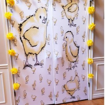 Doorfoto review Custom Door Covers Baby Chick Baby Shower Ideas Baby Chick Baby shower theme
