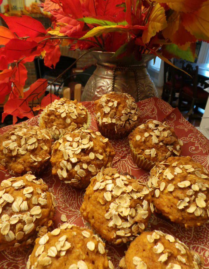 Best Ever Pumpkin Oat streusel Muffin Recipe
