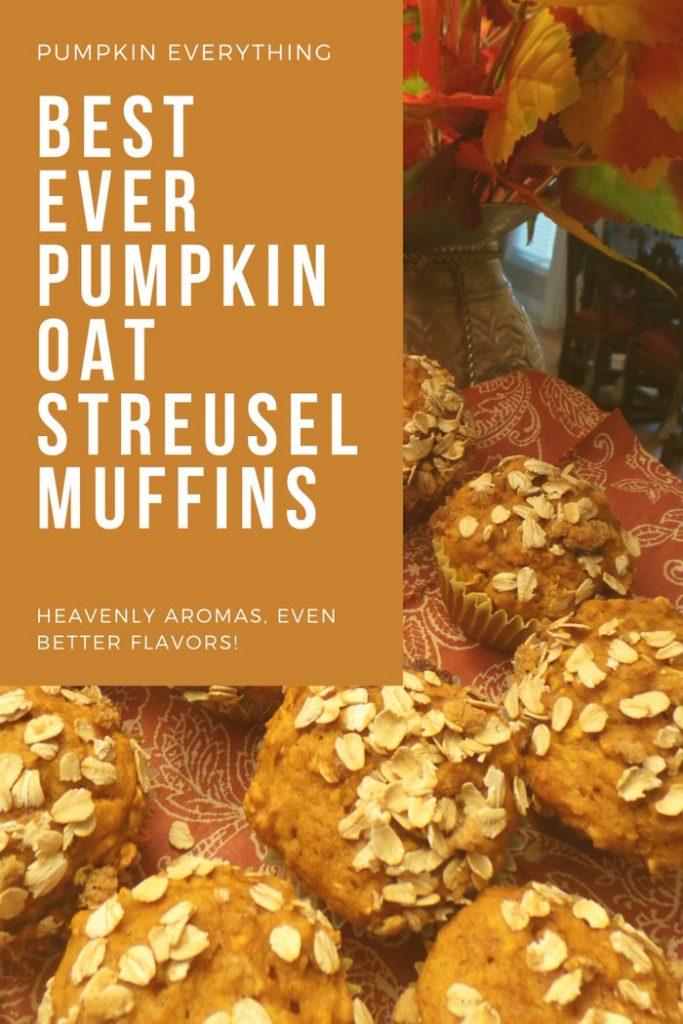 Best Ever Pumpkin Oat Streusel Muffins